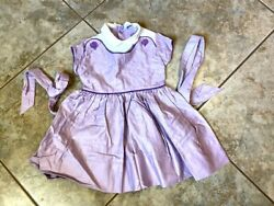 Vintage Girl Dress Cinderella inspired by Shirley Temple Purple Cotton 1950 2T $179.55