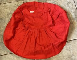 Vintage Girl Party Dress Kate Greenaway 1950s 3T Cotton Full Skirt Red Shirley $84.55