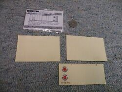 Walthers Decals O Gauge Box Car 67-15 Lehigh New England White   L11