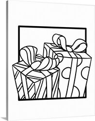 Diy Coloring Book Canvas Art Entitled Gifts