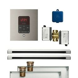 Mr. Steam Butler 2 Linear Package Square Brushed Nickel