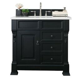 Brookfield 36 Single Cabinet W/drawers Antique Black With 3 Cm Charcoal So...