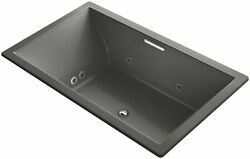 KOHLER K-1174-XH2G-58 Underscore 72-Inch x 42-Inch Drop-In Whirlpool Bubble M...