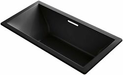 KOHLER 1835-VBW-7 Underscore 72-Inch x 36-Inch Drop-In VibrAcoustic Bath with...