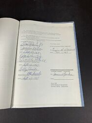 Lucille Ball Dino Desi And Billy Autograph Rc Cola Contract 9/27/67 Psa Grade 9