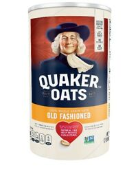 Quaker Oats 1 Minute Oats And 1 Old Fashioned Oatmeal, 42 Oz Canister 2 Pack