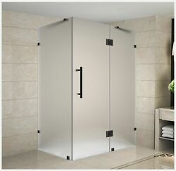 Aston Avalux Completely Frameless Shower Enclosure In Frosted Glass 42 X 36...