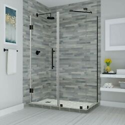 Aston Sen967ez-orb-743630-10 Bromley Frameless Hinged Shower Enclosure With S...