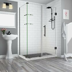 Aston Sen962ez-orb-733532-10 Bromley Gs Frameless Hinged Shower Enclosure Wit...