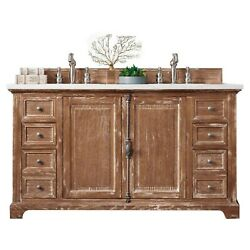 60 In. Double Vanity Cabinet In Driftwood