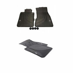 🔥 Genuine Front And Rear Black Rubber All Weather Floor Mats For Bmw 5-series 🔥
