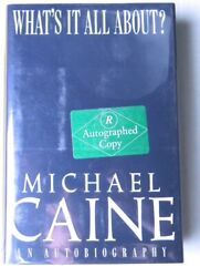 Michael Caine Signed Autographed Hardcover Book Whatand039s It All About Jsa Hh36227