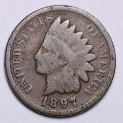 1897 1 In Neck Indian Head Cent Penny Choice G Blunder Die Free Shipping e449 B