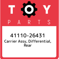 41110-26431 Toyota Carrier Assy, Differential, Rear 4111026431, New Genuine Oem