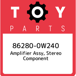 86280-0w240 Toyota Amplifier Assy Stereo Component 862800w240 New Genuine Oem