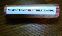 Roll Of Lincoln Wheat Cents Mixed Teens Thru Thirties Pds.