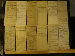 Lot Of 24 Vintage Order Of Eastern Star Applications 1930's--80's Greenville Il