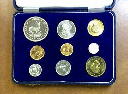 1964 South Africa .35 Oz Gold 1 And 2 Rand And Silver Proof Set Only 3000 Mintage