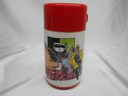 Old Vtg 1989 Aladdin Dick Tracy Thermos Lunchbox Thermo Bottle Pop-top N.o.s.