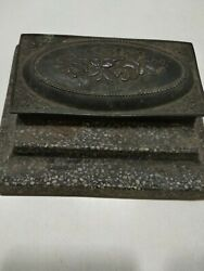 Rare Old Vintage Ink Pot Inkpot Inkwell Antique 4 By 5 Collectible India