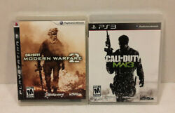 Call Of Duty Modern Warfare 2 And Mw3 Playstation 3 Ps3 Video Game Bundle