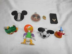 Old Vtg Mickey Mouse Disney Toys Lot 8 Donald Duck Junk Drawer Collectibles