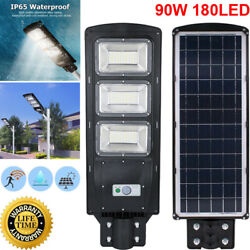 Led Solar Street Light W/remote Garden Wall Lamp Industrial Security Road Bulb