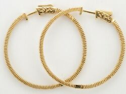 New Fine Quality 18ct Yellow Gold Hoop Earrings Set With 1.12ct Of Diamonds
