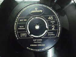 Fresh Cream Pop Corn Cap Horn 6011 404 Rare Single 7 India Indian 45 Rpm Vg+