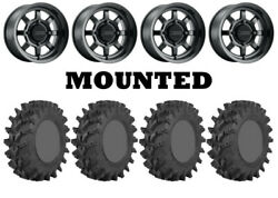 Kit 4 Sti Outback Max Tires 30x10-14 On Method 410 Bead Grip Matte Black Can