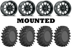 Kit 4 Sti Outback Max Tires 30x10-14 On Method 409 Bead Grip Matte Black Can