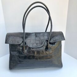 Furla Leather Black Satchel Handbag $39.00