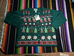 Vintage Heirloom Collectibles Ugly Christmas Sweater Size Large