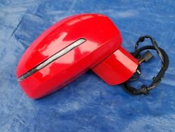 Audi Tt Turbo Mk2 8j Oem Right Passenger Side Rear View Mirror 6-wire Red 08-15