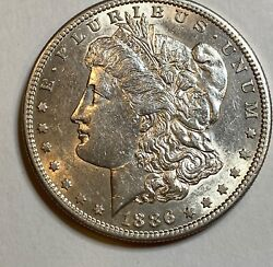 1886 S Morgan Silver Dollar Rare Date Low Mintage Of 750,000