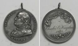 X1334 1790 The Gift Of Franklin Silver Medal Awarded To Charles E Hayden 18x5