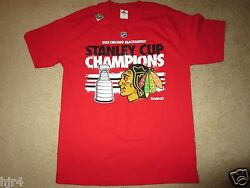 Chicago Blackhawks 2013 Nhl Stanley Cup Champions Shirt Med M New