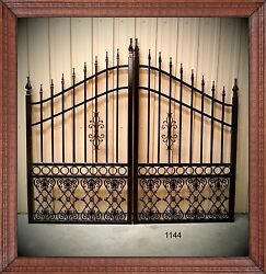 Driveway Gates 10and039 Ft Wd Inc Post Pkg Steel / Iron Yard Outdoor Home Security