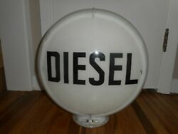 Vintage Diesel Gas Station Pump Advertising Globe W 2 Lenses And Capco Body
