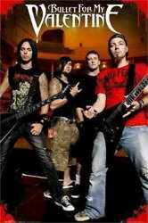 317615 Bullet For My Valentine No Fear Music Thomas James Wall Print Poster Ca