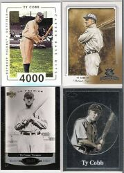 Ty Cobb Tigers 4 Ct Lot With One Card Serial Ed