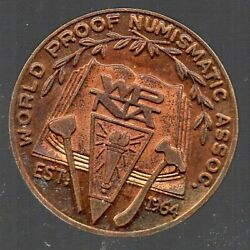 1968 World Proof Numismatic Assoc Token - Food For Peace Freedom From Hunger