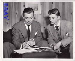 Roddy Mcdowall Gets Autograph From Clark Gable Vintage Photo The Hucksters