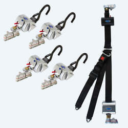 4 Qrt Standard Retractors With L-track Fittings And Hr131 Retractable Lap And Shou