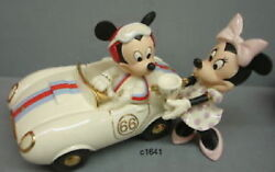 Lenox Disney Winner's Circle With Mickey Mouse Minnie Figurine - New In Box