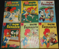 Vintage Golden Age Dell New Funnies Comic Lot 12pc Vg-f