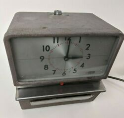 Simplex Time Clock Kcf1r3 Punch In Out Vintage No Key Works Read All Please