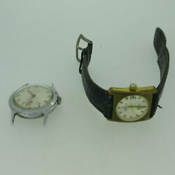 Lot Of 2 Vintage Elgin And Meister-anker Gold And Silver Tone Mechanical Watches