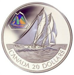 2000 Transportation Schooner And039the Bluenoseand039 20 Proof Silver