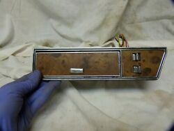 85 86 87 88 89 Lincoln Town Car Rear Driver Side Window Switch Light Ashtray